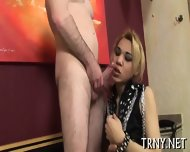 Teen Tranny Fucks With Stranger - scene 1