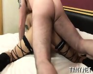 Teen Tranny Fucks With Stranger - scene 11