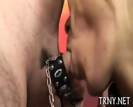 Teen Tranny Fucks With Stranger - scene 2