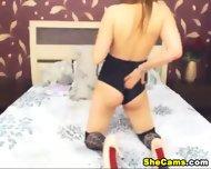 Masturbating Shemale Hidden Cam - scene 4