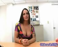 Supple Sexy Brunette Loves Cock - scene 1