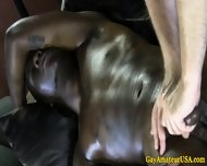 Muscled Black Amateur Blown By Gay Dude - scene 10