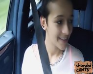 Vanessa Rodriguez Warms Up In The Car By Fucking Dude - scene 4