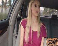 A Nice And Big Facial For Blonde Mila Evans In The Car - scene 1