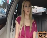 A Nice And Big Facial For Blonde Mila Evans In The Car - scene 2
