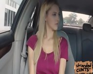 A Nice And Big Facial For Blonde Mila Evans In The Car - scene 3