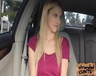A Nice And Big Facial For Blonde Mila Evans In The Car - scene 4
