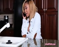 Ghetto Busty Chick Diamond Monrow Gets Her Pussy Hammered - scene 1