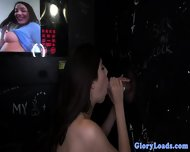 Gloryhole Loving Brunette Buffs Helmet - scene 4