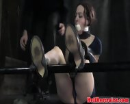 Bdsm Sub Gagged And Restrained With Tape - scene 11