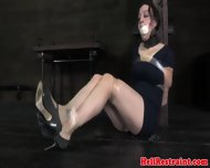 Bdsm Sub Gagged And Restrained With Tape - scene 4