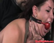 Gagged Sub Gets Ass Spanked Raw - scene 9