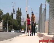 Big Tits Whore Charity Bangs Double Fucked With Black Dudes - scene 1