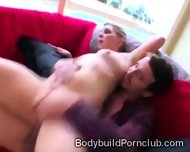 Fitness Blondie With Big Round Booty Mounts A Heavy Dong - scene 9