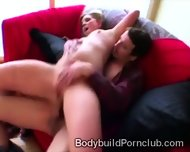 Fitness Blondie With Big Round Booty Mounts A Heavy Dong - scene 12