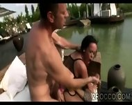Glorious Ass Teen Gets Double Penetrated In Wild Foursome Outdoor - scene 8
