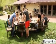 Horny Swingers Fucking And Sucking In Playboys Mansion - scene 1
