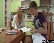 Anal Sex After The Homework In The Kitchen - scene 1