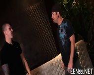 Busty Teen Serves Mature Cock - scene 3