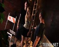 Busty Teen Serves Mature Cock - scene 6