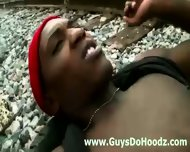 Straight Black Guy Assfucked Outdoors By Gay Dude - scene 10