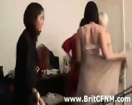 Guy Gets Handjob From Clothed British Cfnm Girls - scene 1