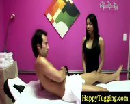 Big Titted Asian Masseuse Paid To Suck - scene 9