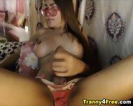 Big Cock Busty Tranny Masturbating - scene 6
