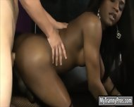 Enhanced Tits Ebony Shemale Hardcore Sex With Nasty Dude - scene 12