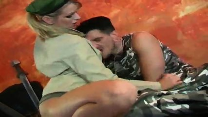 Military Babe uses odd Interrogation Methods - scene 3