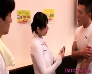 Beautiful Busty Av Model Hana Haruna Threeway - scene 2