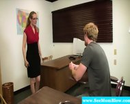 Mature Teacher Blows Her Student - scene 2