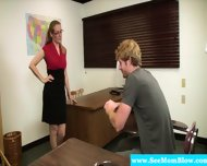 Mature Teacher Blows Her Student - scene 3