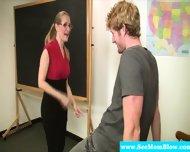 Mature Teacher Blows Her Student - scene 4