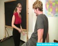 Mature Teacher Blows Her Student