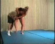 Mixed Wrestling Fbb Christine Fetzer Bodybuilder Scissors - scene 10