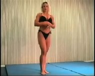 Mixed Wrestling Fbb Christine Fetzer Bodybuilder Scissors