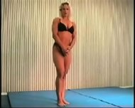 Mixed Wrestling Fbb Christine Fetzer Bodybuilder Scissors - scene 5
