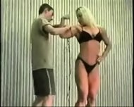 Mixed Wrestling Fbb Christine Fetzer Bodybuilder Scissors - scene 6