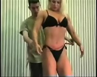 Mixed Wrestling Fbb Christine Fetzer Bodybuilder Scissors - scene 7