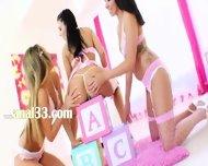 Three Exclusive Teen Anal Girl2girl - scene 1