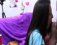 Group Of College Girls Smoke One Dick - scene 5