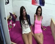Two Amazing Teen Chicks Getblowjob Pussies Outdoors - scene 6
