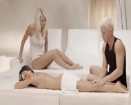 Exclusive Fairhairs Threesome From Sweden - scene 1