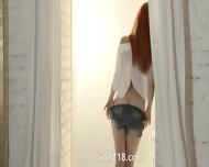 Unbeliveably Breasty Redhead Teasing - scene 2