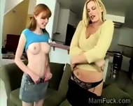 Milf And Daughter Share Their Hot Bodies With The Camera - scene 4