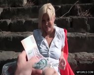 Busty Lady Taste A Fat Cock During Lunchbreak In Public - scene 7