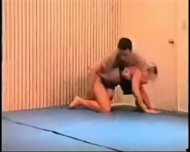 Mixed Wrestling Fbb Christine Fetzer Bodybuilder Scissors Part 2 - scene 1