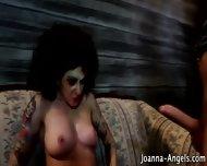 Zombie Pornstar Gets Cum - scene 12