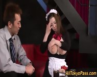 Lactating Asian Maid Cum - scene 1
